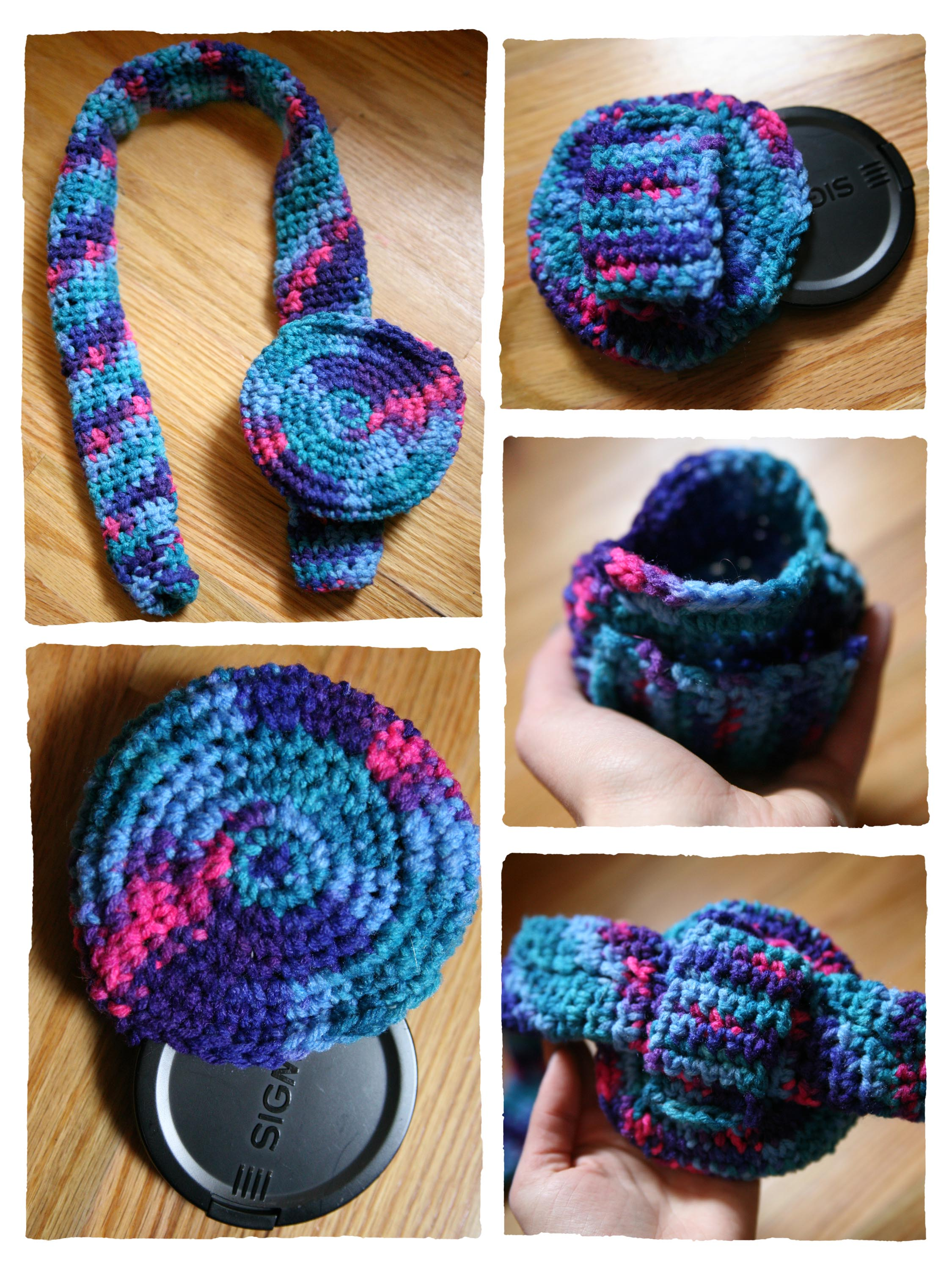 Crochet Camera Strap Cover and Lens Pouch arfotografie
