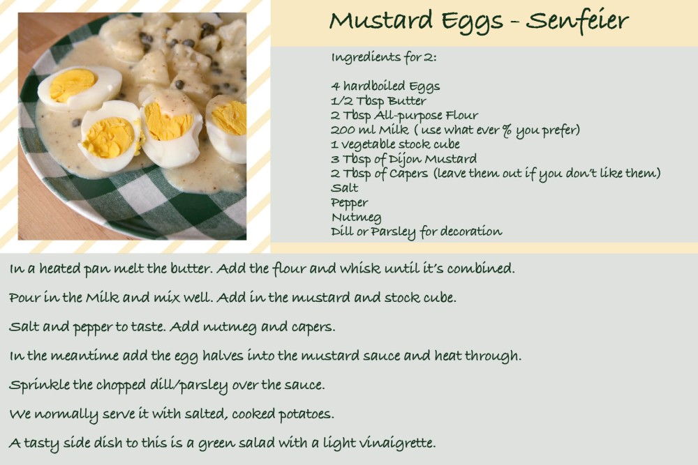 Eggs in Mustard Sauce - A German Tradition (2/2)