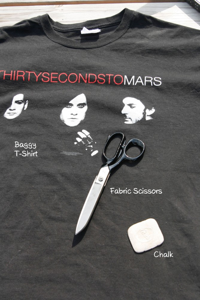 T-Shirt Reconstruction DIY (2/6)