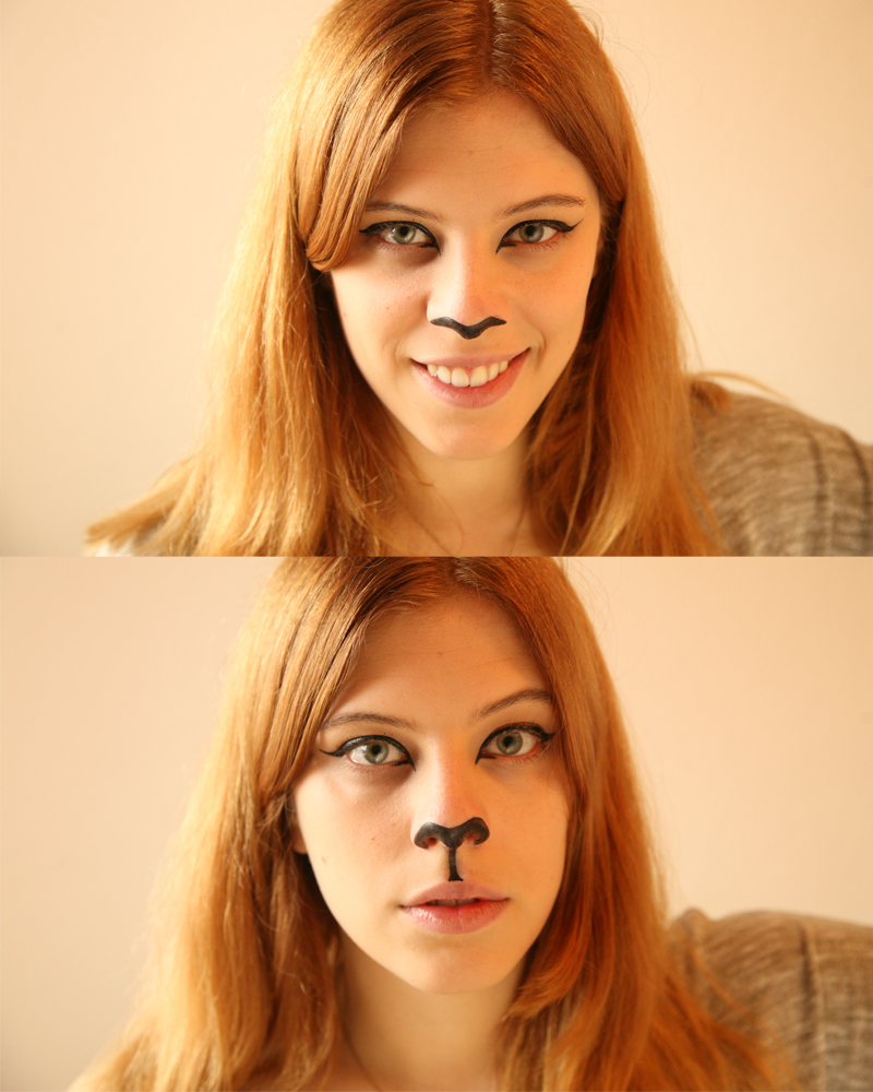 Halloween Cat Makeup tutorial (3/6)