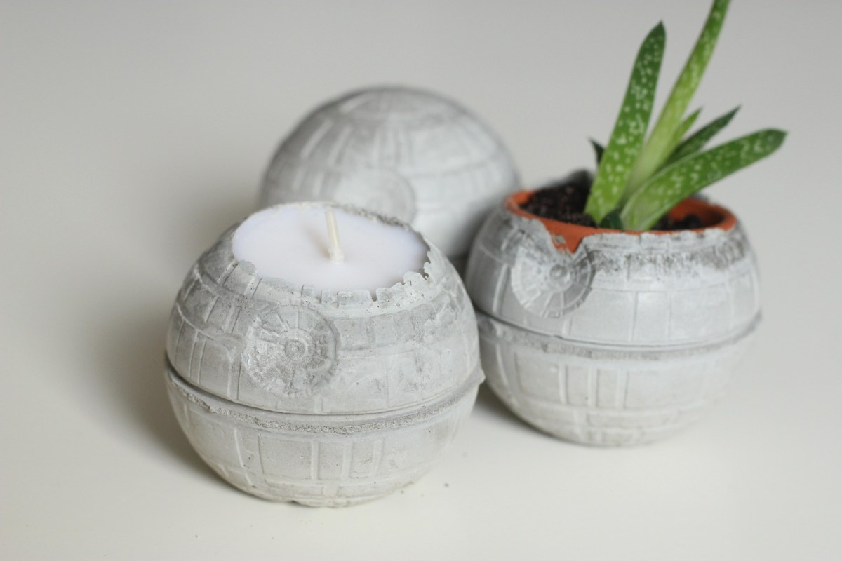 Concrete Death Star DIY